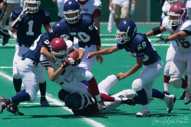 第45回関西高等学校アメリカンフットボール選手権 崇徳高校ー広島城北高校