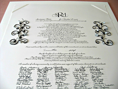 All Things Paper: Quilled Marriage Certificate with Paper Sculpture ...