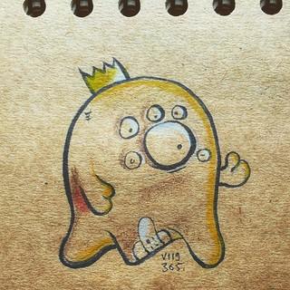 Le roi resta discret sur son accident de chasse #mtl #montreal #quebec #canada #ink #illustrations #draw #drawing #doodle #dailyillustrations_2015 #snapseed #sketch #cartoon #comics #instagramers #igersmontreal #igerscanada #polychromos #artistoninstagram