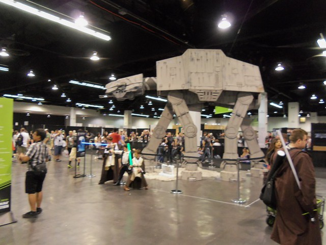 AT-AT near Celebration Stage queue area