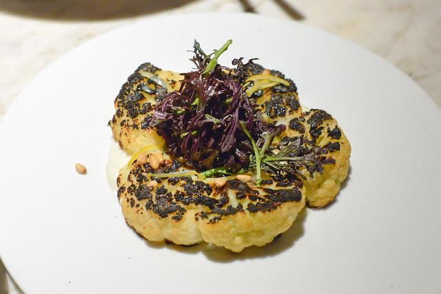 Cauliflower Steak pine nuts, preserved lemon