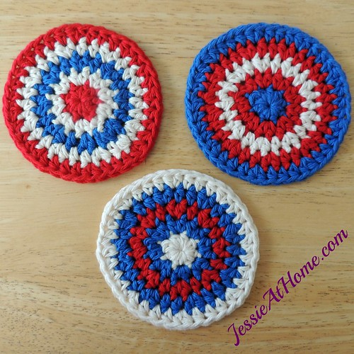 Red-White-and-Blue-Circle-Crochet-Coasters