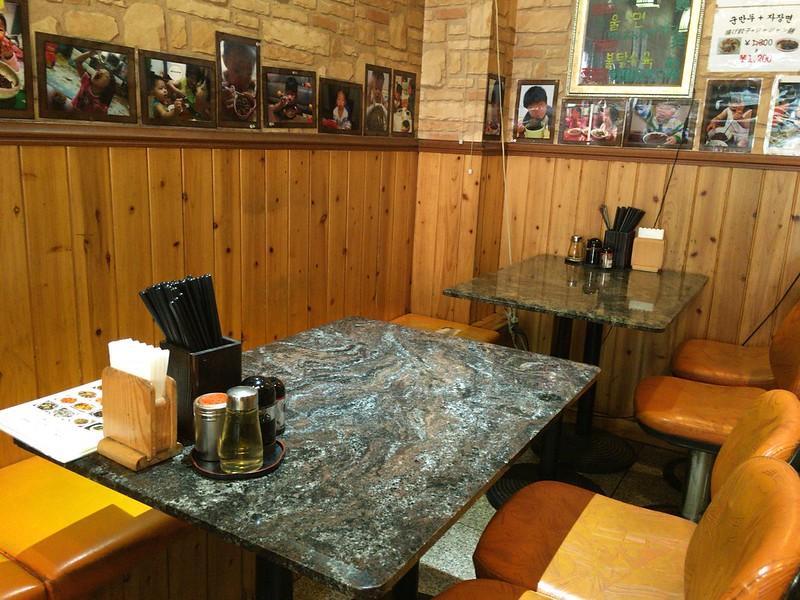 ジャジャン麺ハウステーブル席