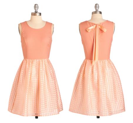 modcloth peach dress