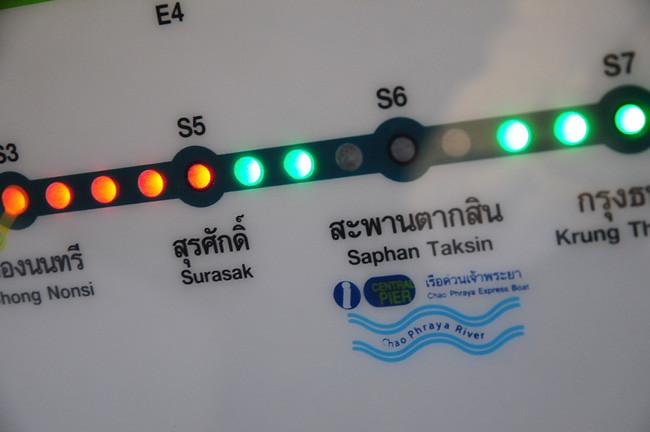 2014 曼谷的交通-大皇宮前進之路