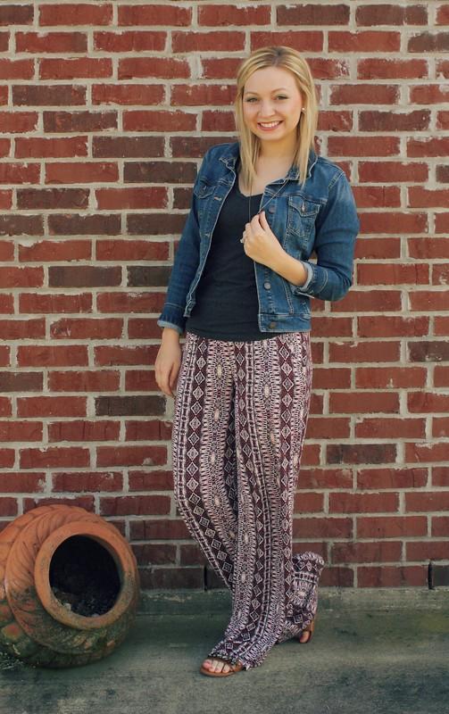 spring - palazzo pants