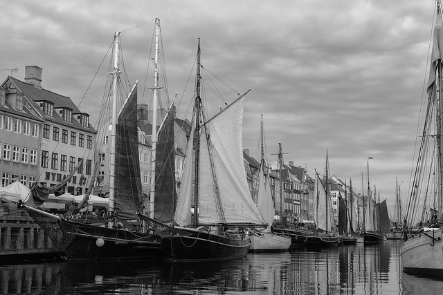 Historic Nyhavn in Black and White
