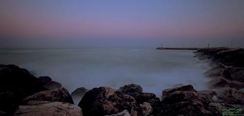 longexposure sunset tramonto mare alba porto numana scogliera longtime
