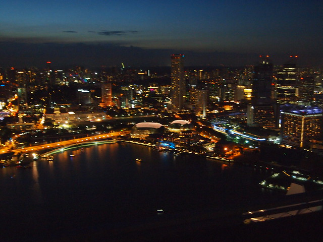 P4179065 インフィニティ・プール(天空プール)マリーナ・ベイ・サンズ・ホテル Marina Bay Sands Hotel
