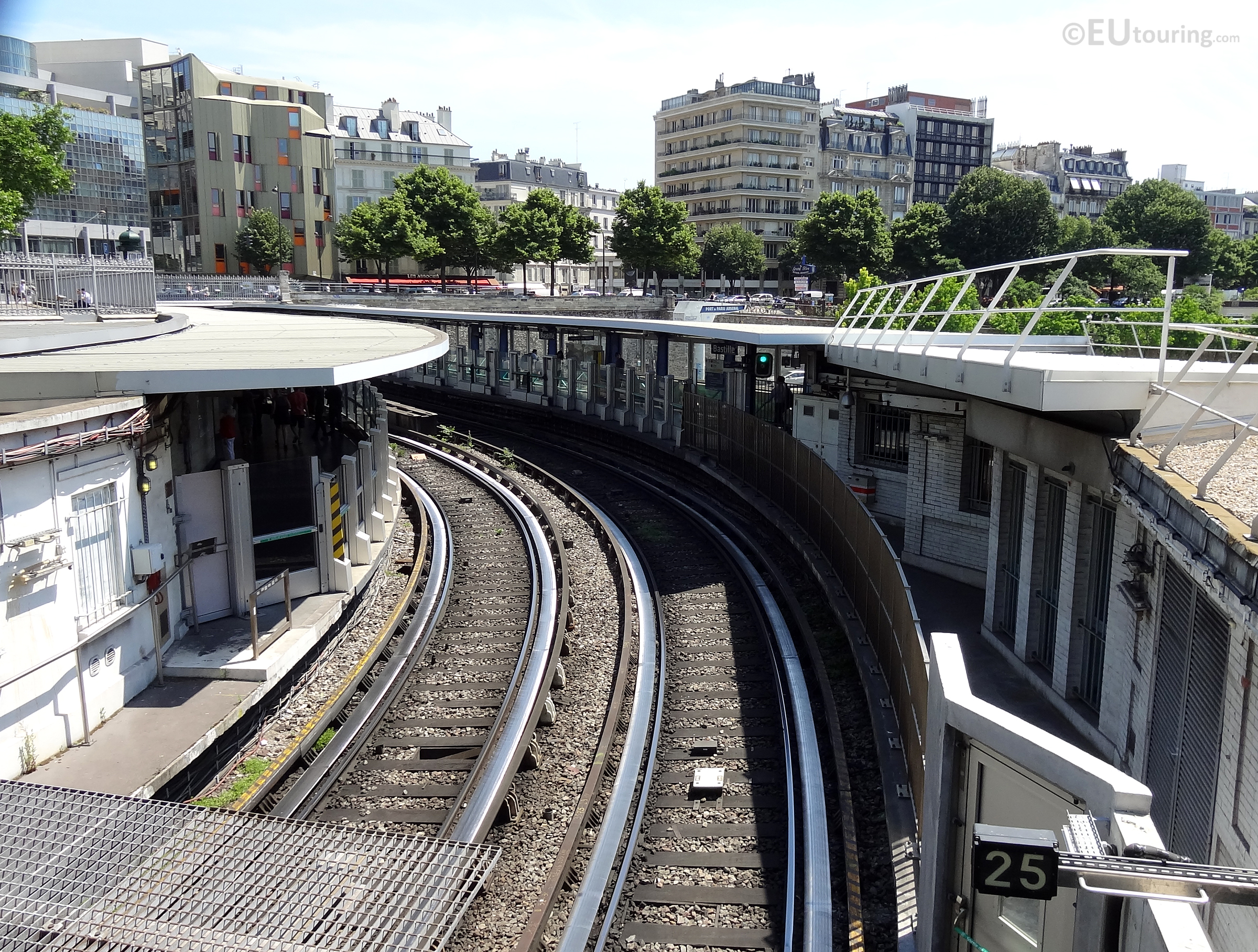 Over ground metro line