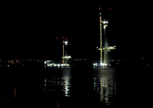 New Queensferry Bridge at night 2