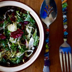 Kale & Brussel Sprout Salad #whatsforlunch #sa…