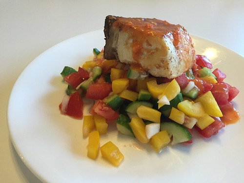Halibut with Gazpacho Salsa