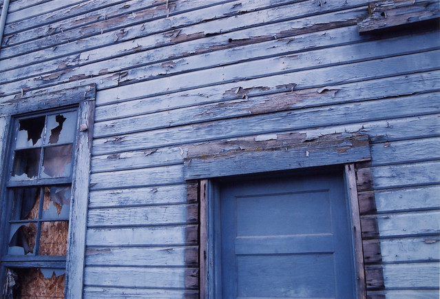 La Conner, Washington: Building of Blue Weathered Wood