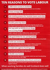 Labour Party General Election leaflet.  10 reasons to vote Labour.  March 2015.