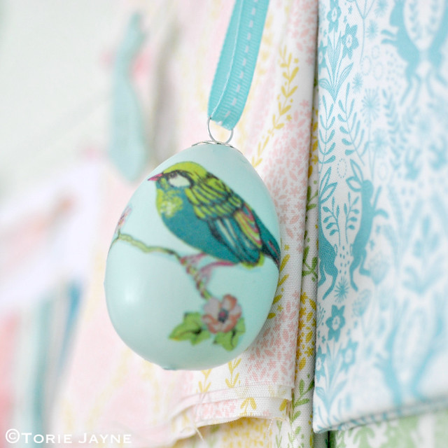 Easter mood board with fabrics from Elephant in my handbag
