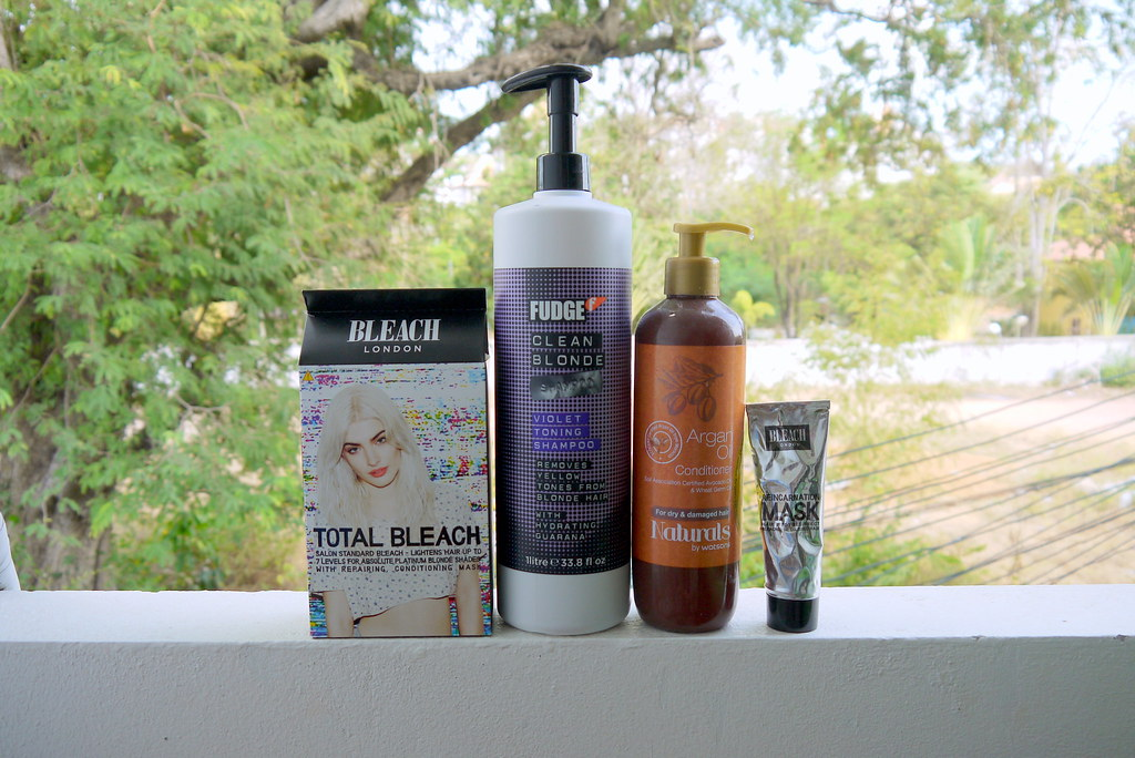 Bleached hair, aftercare etc // Kirsty Wears