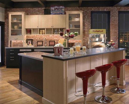 Quầy bar trong thiết kế nội thất bếp