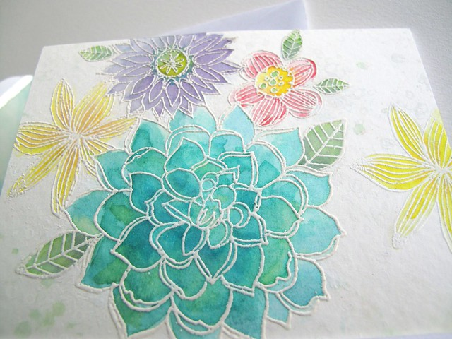 Hero Arts floral watercolour DETAIL