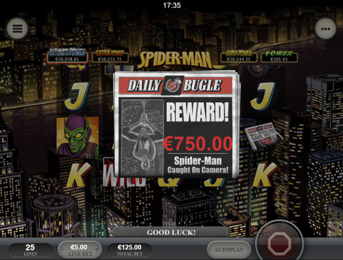free Spider-Man: Attack of the Green Goblin Mobile bonus feature