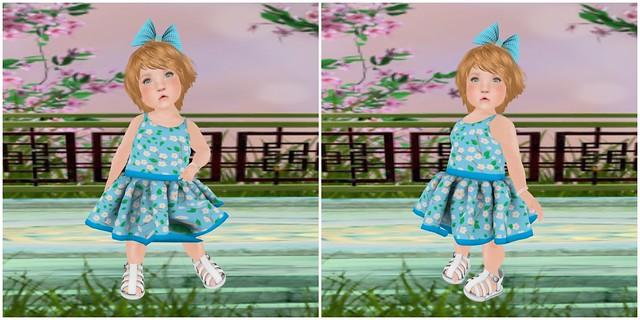 Violetility- Blue Blossom Spring Dress