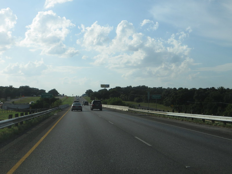 Leaving San Antonio and Entering Kendall County on Interstate 10