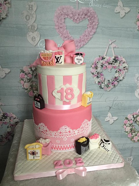 Girls Love to Shop Inspired Cake by Clare Blinman of Caked4You