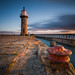 Sunrise at a very windy Whitby!! by Dave Holder