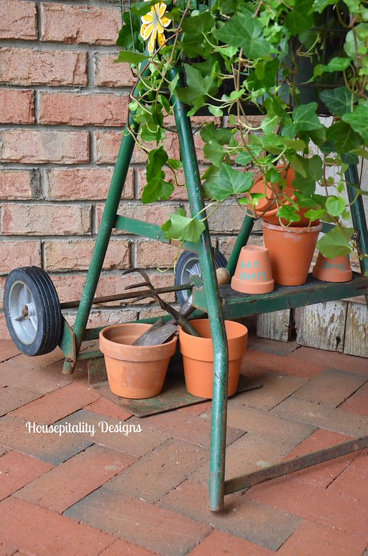 Vintage ladder and hand truck-Housepitality Designs