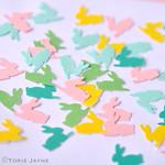 DIY Bunny paper confetti
