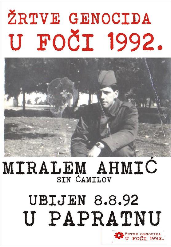 MIRALEM AHMIC   - žrtva genocida u Foči 1992.