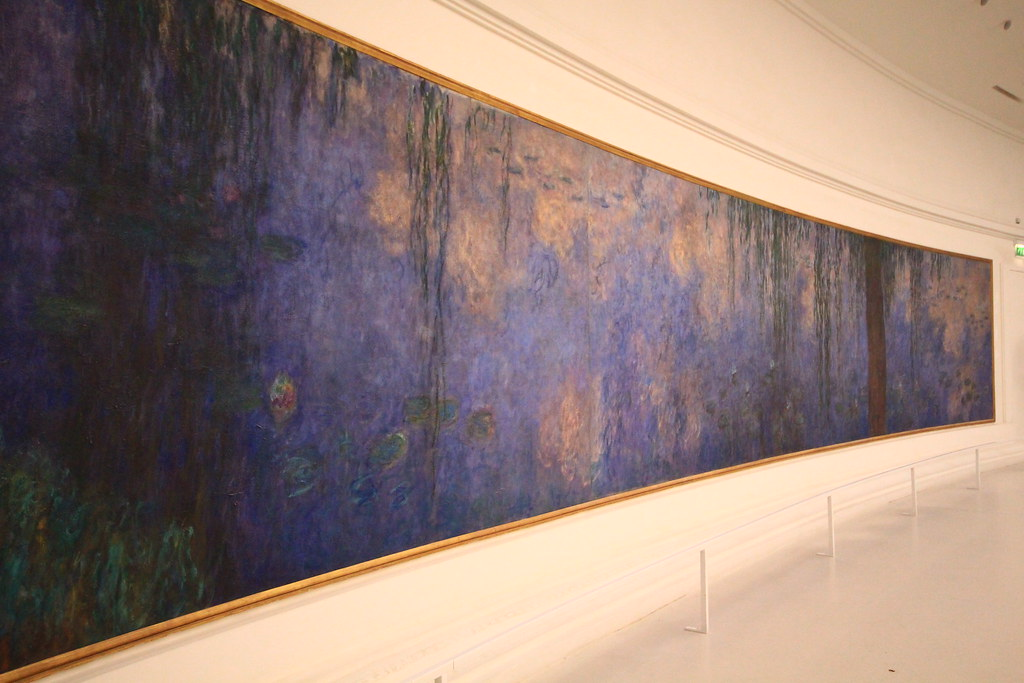 One of Monet's stunning paintings on display at the Musée de l'Orangerie.