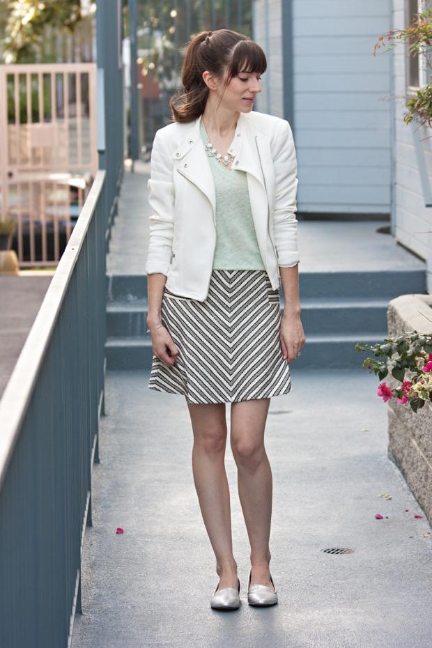 Linen tee, Striped Skirt, Rocksbox