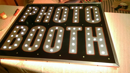 Photo Booth sign, done