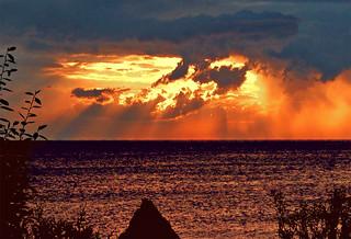 MALDIVES at sunset