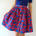 Lobster Picnic Blanket Skirt
