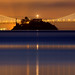 Alcatraz and Bay Bridge Pre-dawn by Rob Kroenert