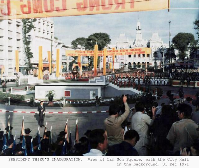 SAIGON 1971 - Lễ nhậm chức Nhiệm kỳ 2 của TT Nguyễn Văn Thiệu - President Thieu's Inauguration - 31 Oct 1971