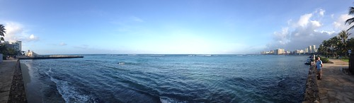 Easter 2015: iphone pano of waikiki beach