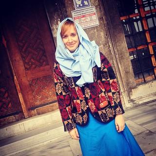 תמונה של The Blue Mosque ליד Eminönü. square squareformat iphoneography instagramapp xproii uploaded:by=instagram