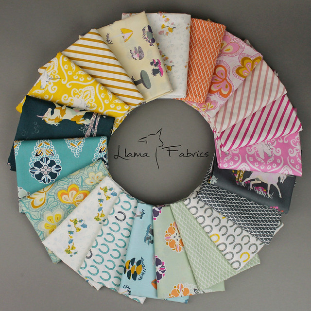 Fantasia FQ bundle Giveaway with Llama Fabrics!