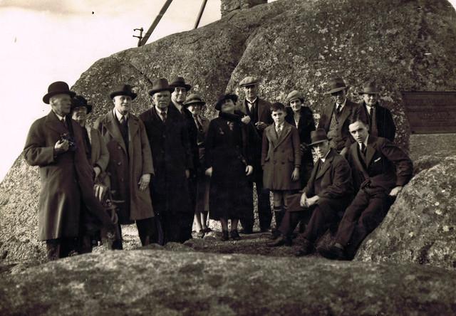 Members of RHSV and Mr Charles Daly at Flinders Peak Memorial