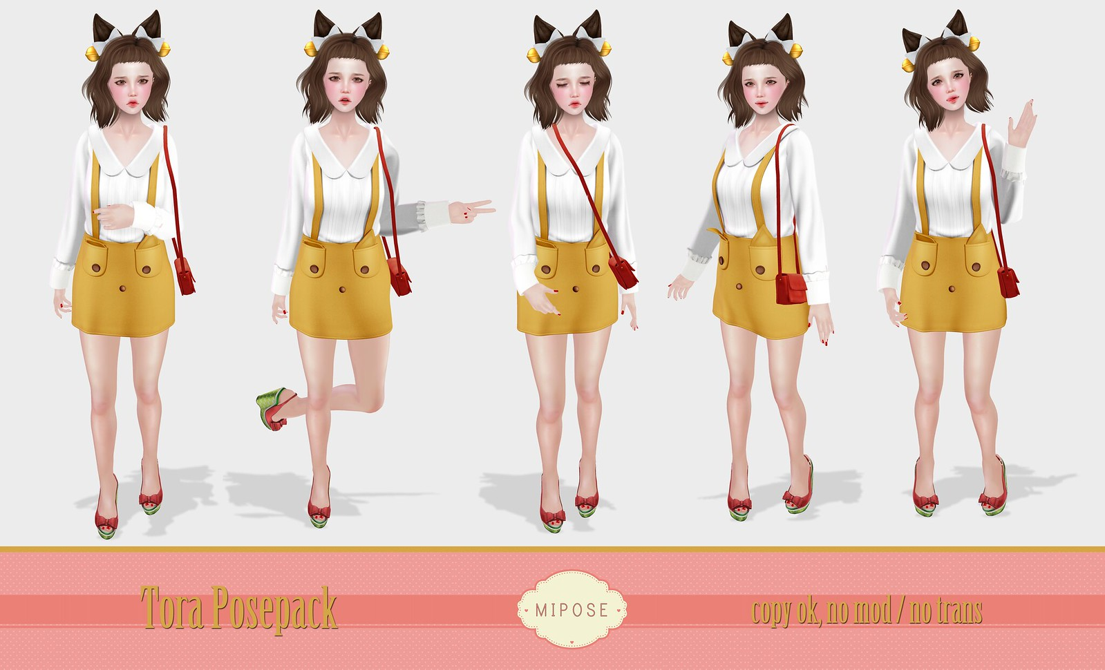 MiPose - Tora Posepack (Inworld Stores Opening Offer)