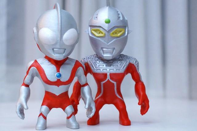 【玩具人吉米投稿】3D列印DIY設計玩具魂 _ 奧特曼初代與賽文奧特曼自製公仔登場