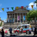 Summer bunting in Preston