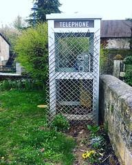 La Cabine Téléphonique en cage - Photo of Saint-Germain-du-Bel-Air