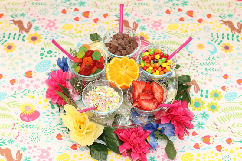 Entertaining with Frozen Custard Dessert and Toppings Bar