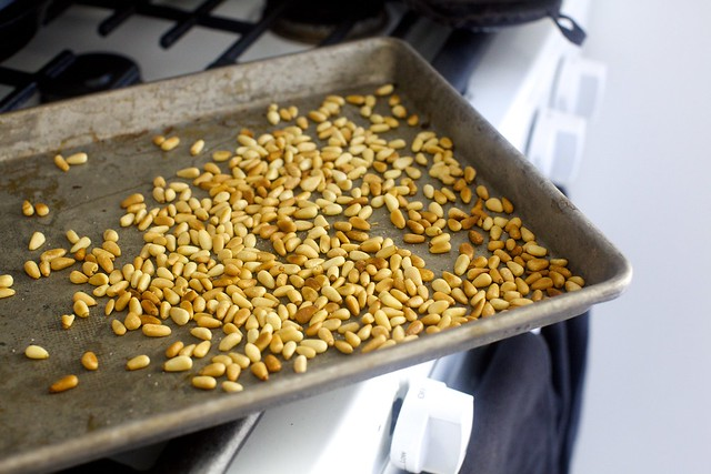 well-toasted pine nuts