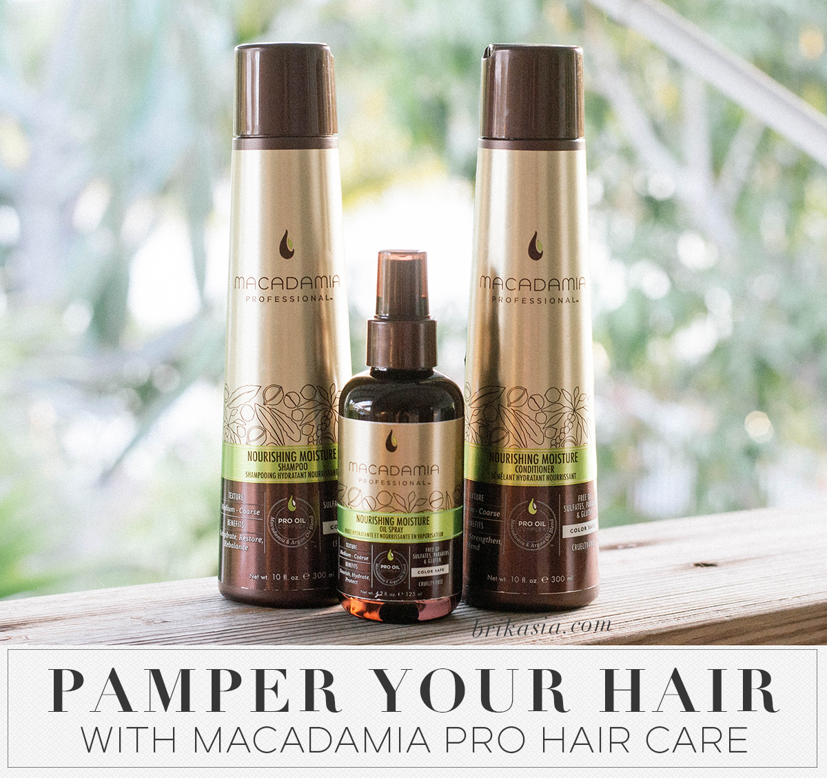 Pamper Your Hair with Macadamia PRO Hair Care, Macadamia Professional Hair Care, Nourishing Moisture Line, Macadamia Nourishing Moisture Shampoo, Macadamia Nourishing Moisture Conditioner, curly hair products, how to detangle hair, products for detangling hair,Macadamia Nourishing Moisture Oil Spray, review
