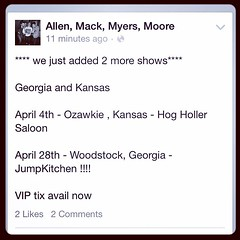 "2 new shows added to the ""Night Like This Tour"" Kansas and Georgia! #NightLikeThisTour #MackMyersMoore #ZachMyers #Shinedown"